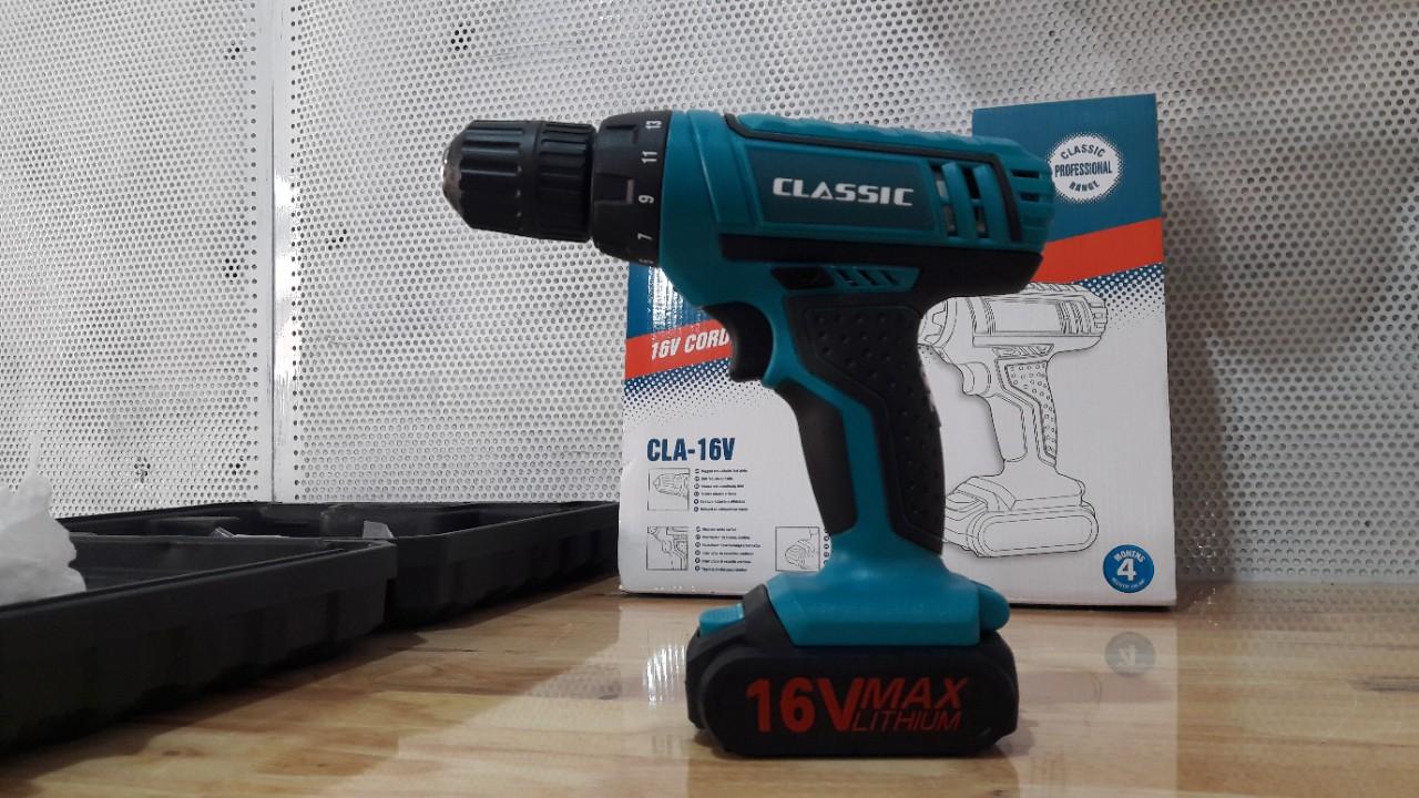 Máy khoan dùng pin CLASSIC CLA-16V